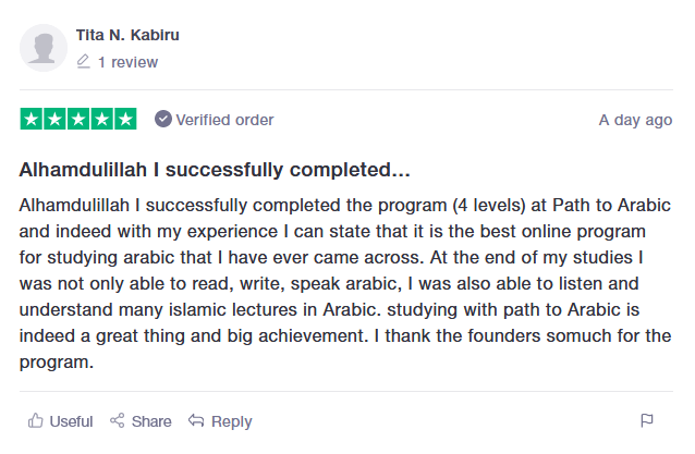 review Path to Arabic